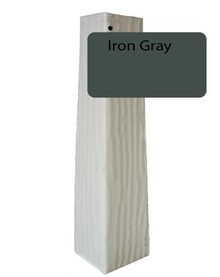 Iron Gray Vertical Grain Outside Corner For 1 4 X 10
