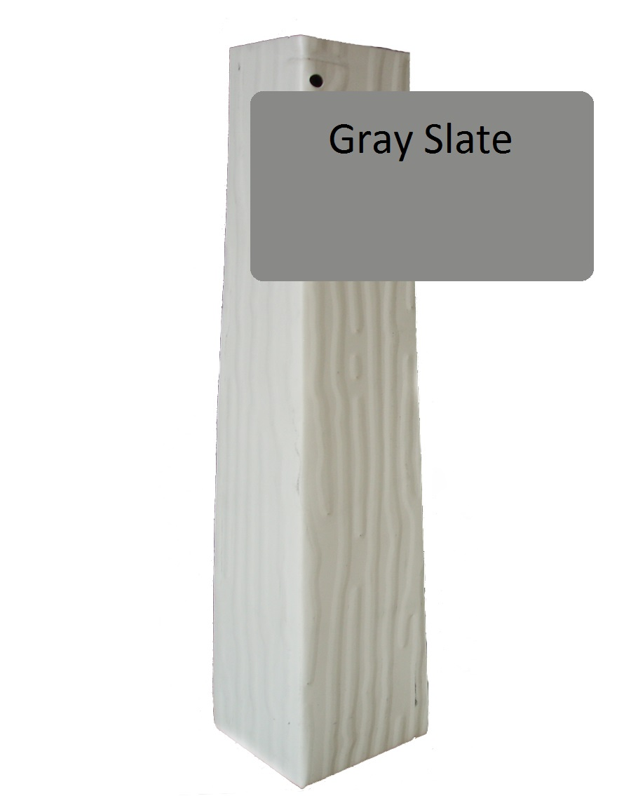 Gray Slate Vertical Grain Outside Corner For 1 4 X 10 Siding Pro Siding Accessories