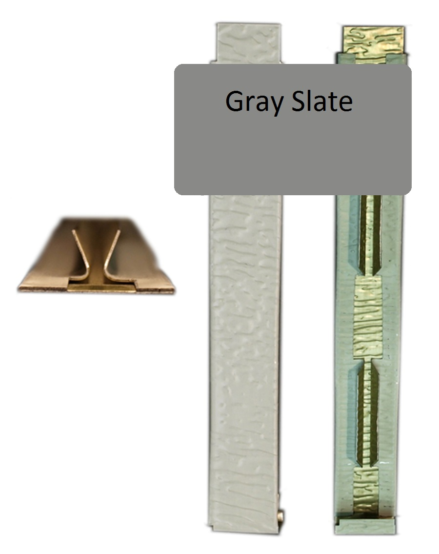 Gray Slate Wood Grain Joint Cover For 5 16 X 6 25 Siding Pro Siding Accessories