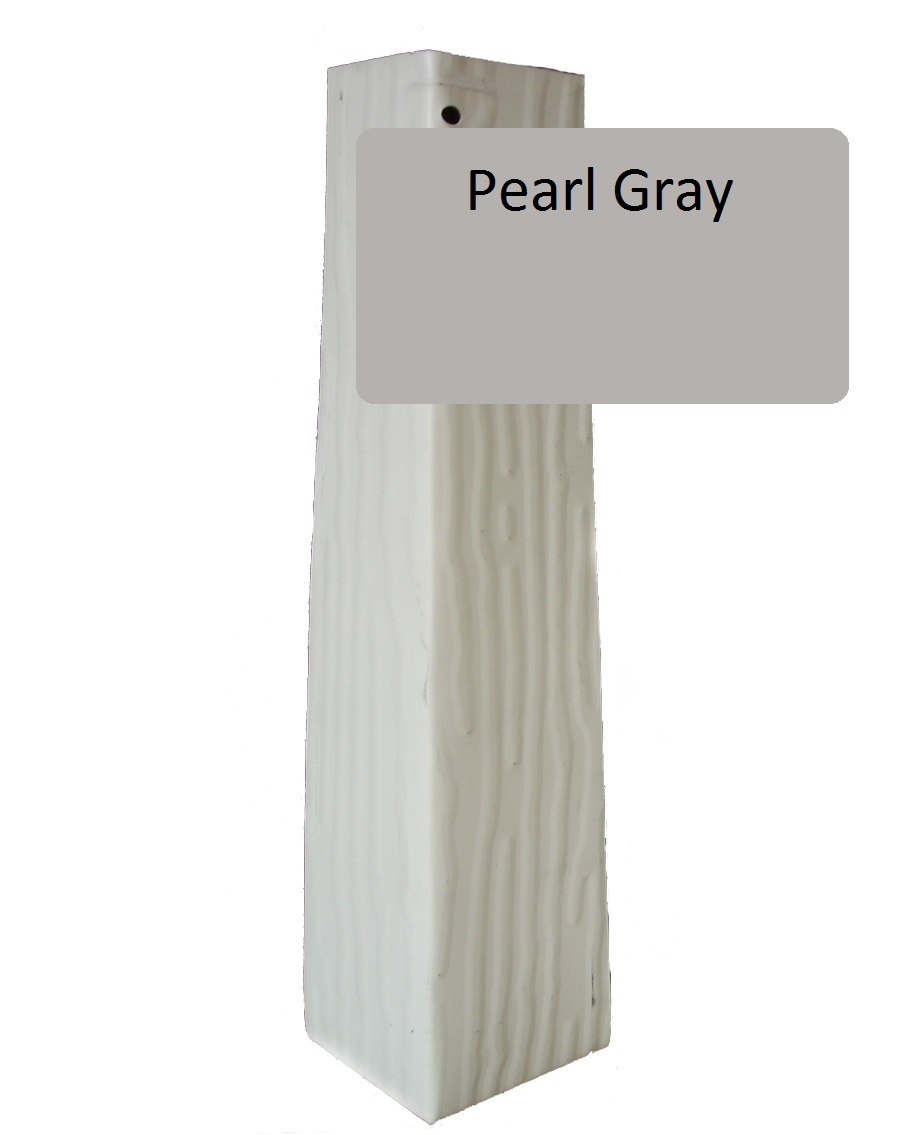 Pearl Gray Vertical Grain Outside Corner For 1 4 X 10 Siding Pro Siding Accessories